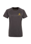 Swaggerlicious Charcoal Active Sports Tee with Gold Logo - swaggerlicious-clothing.com