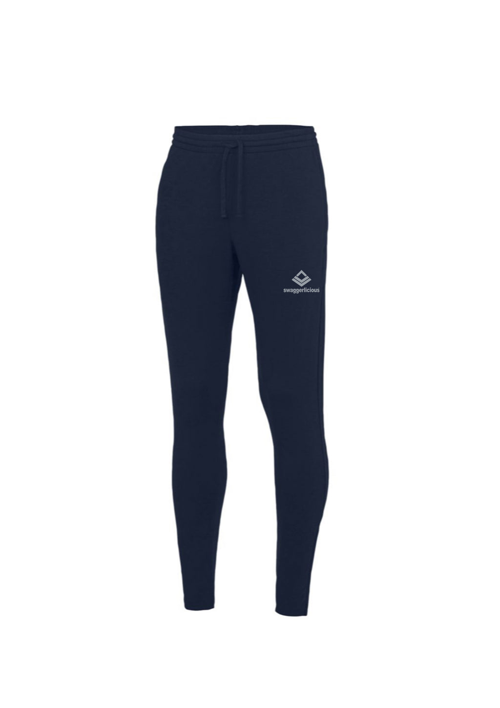 Swaggerlicious Cool French Navy Jogging Pants with Silver Logo