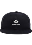 Swaggerlicious Kids Classic Black Snapback Cap with Mini White Logo