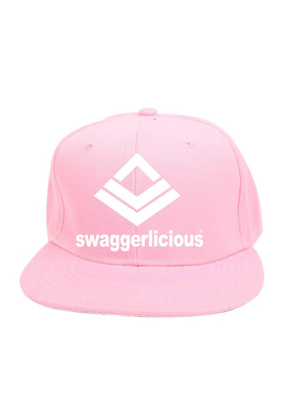 Swaggerlicious Classic Pink Snapback Cap with Large Logo - swaggerlicious-clothing.com