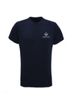 Navy Swaggerlicious Quick Dry Active T-Shirt with Silver Logo - swaggerlicious-clothing.com