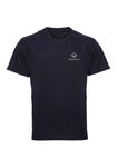 Navy Swaggerlicious Active Dry T-Shirt with Silver Logo - swaggerlicious-clothing.com