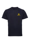 Navy Swaggerlicious Active Dry T-Shirt with Yellow Logo - swaggerlicious-clothing.com