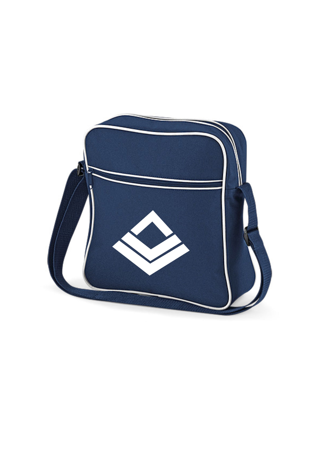 Swaggerlicious Active Navy Blue and White Flight Bag - swaggerlicious-clothing.com