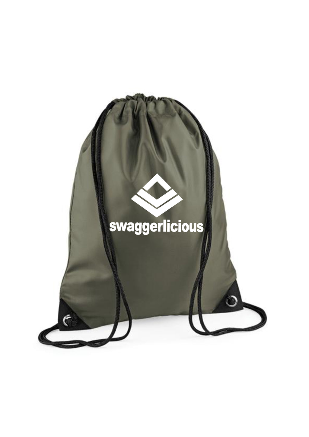 OLIVE SWAGGERLICIOUS GYM SACK - swaggerlicious-clothing.com