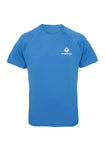 Sapphire Swaggerlicious Active Dry T-Shirt with White Logo - swaggerlicious-clothing.com