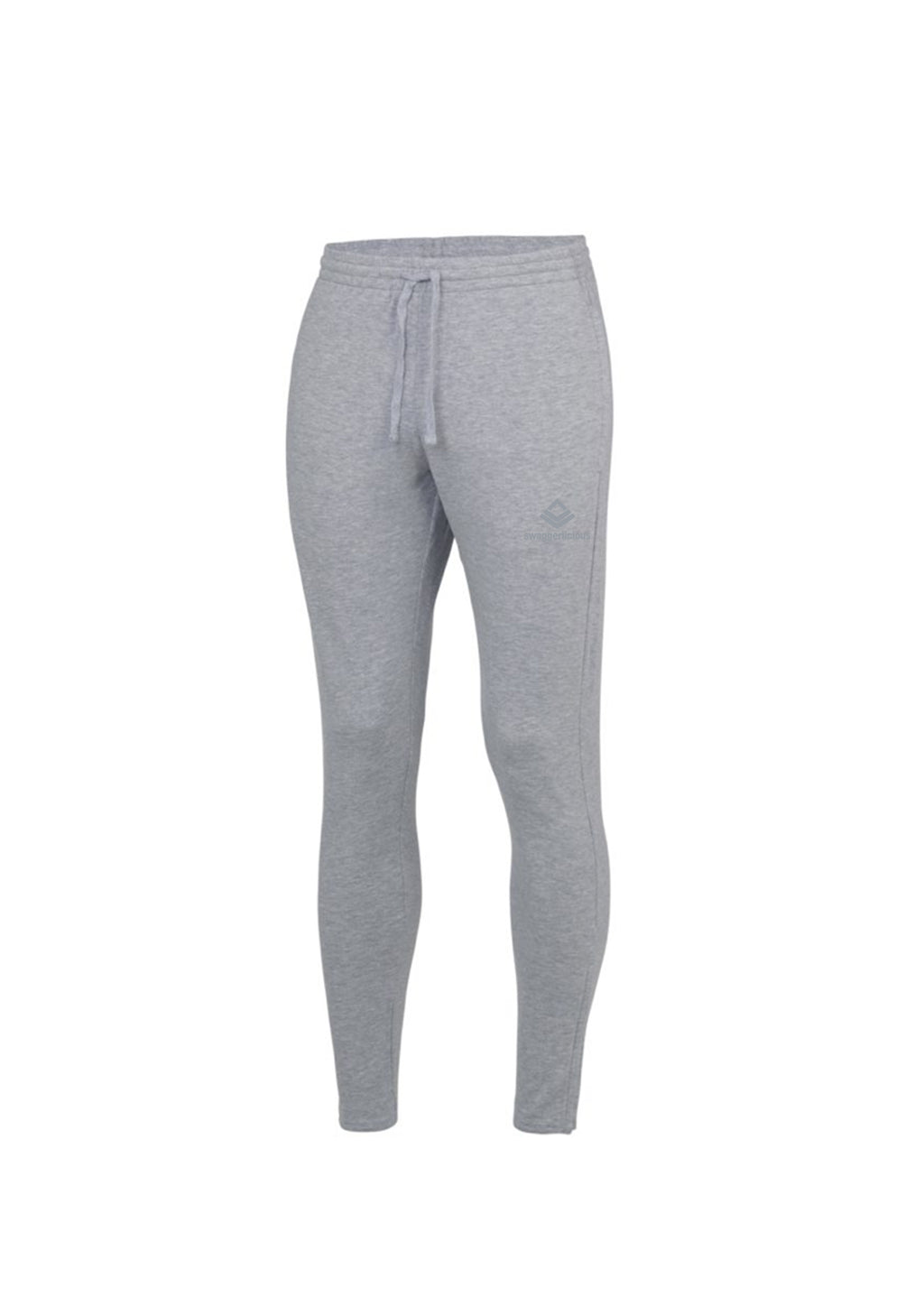 Swaggerlicious Sport Grey Cool Jogging Pants with Silver Logo