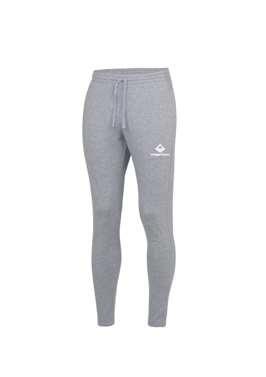 Swaggerlicious Sport Grey Cool Jogging Pants with White Logo