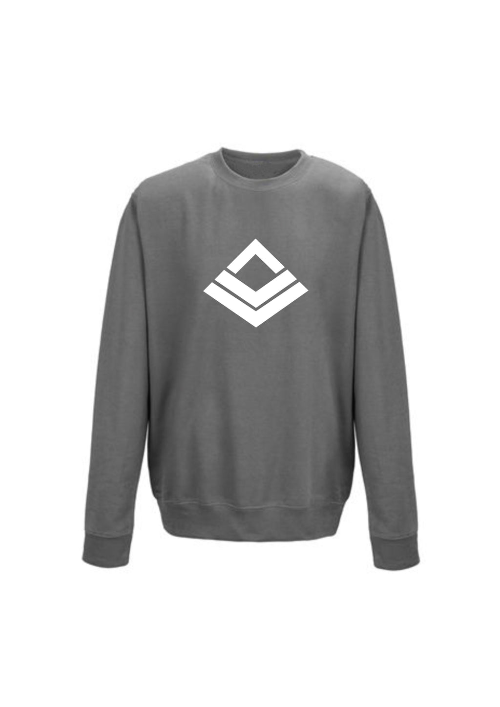 Steel Grey Swaggerlicious White Symbol Sweatshirt - swaggerlicious-clothing.com
