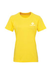 Swaggerlicious Sun Yellow Active Sports Tee with White Logo