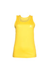 Swaggerlicious Women's Yellow Workout Tank Top with White Logo