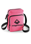 Swaggerlicious Pink Sports Messenger Bag with Black Logo