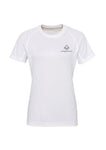 Swaggerlicious White Active Sports Tee with Silver Logo
