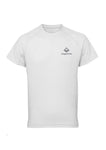 White Swaggerlicious Active T-Shirt with Silver Logo