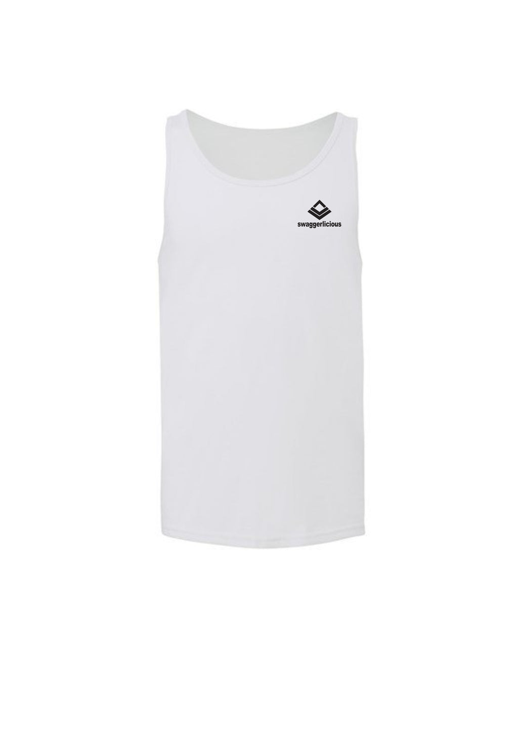 Swaggerlicious Classic White Tank with Mini Logo - swaggerlicious-clothing.com