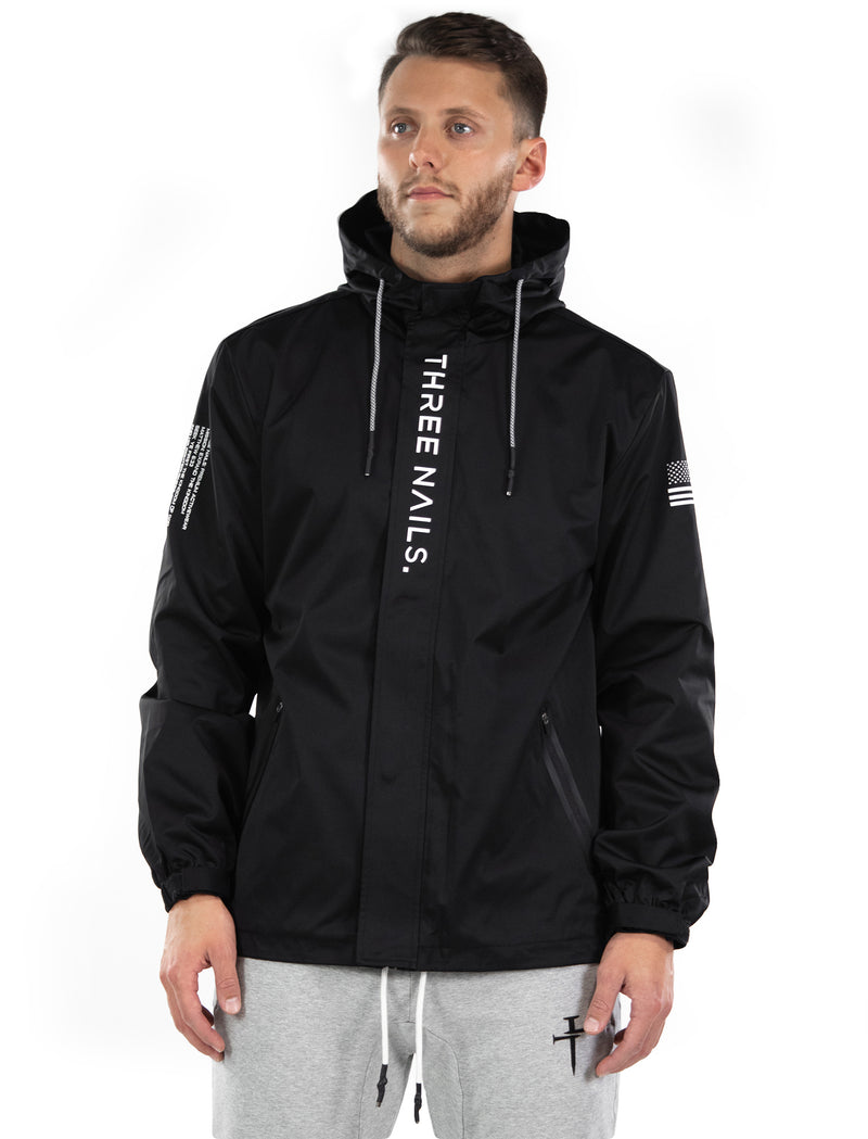 Legend Tech Windbreaker - Black