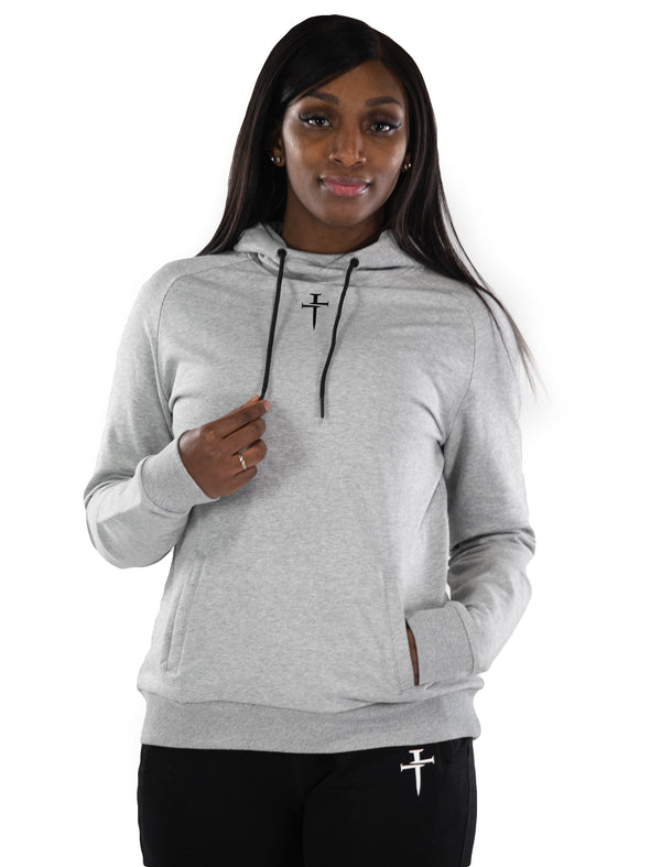 Cross Halo V2 Hoodie - Heather Grey