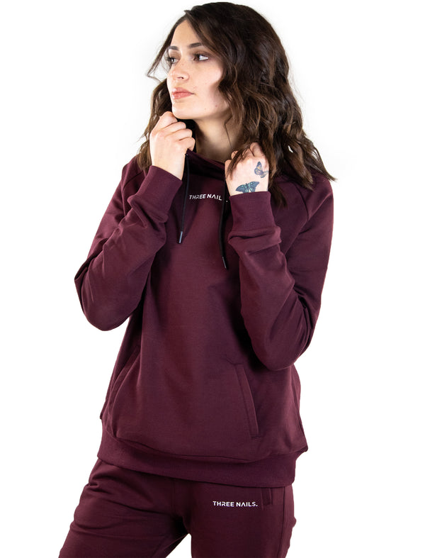 Three Nails® Halo V2 Hoodie - Merlot