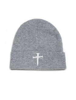 Three Nails® Cross Beanie - Wolf Grey