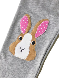 Bunny Knee Patch Leggings