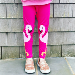 Flamingo Applique Leggings