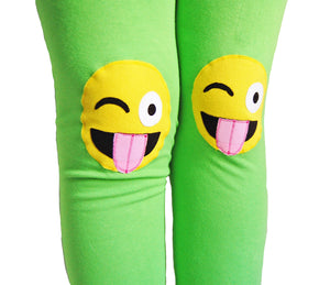 Emoji Knee Patch Leggings