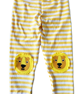 Lion Striped Kneepatch Leggings