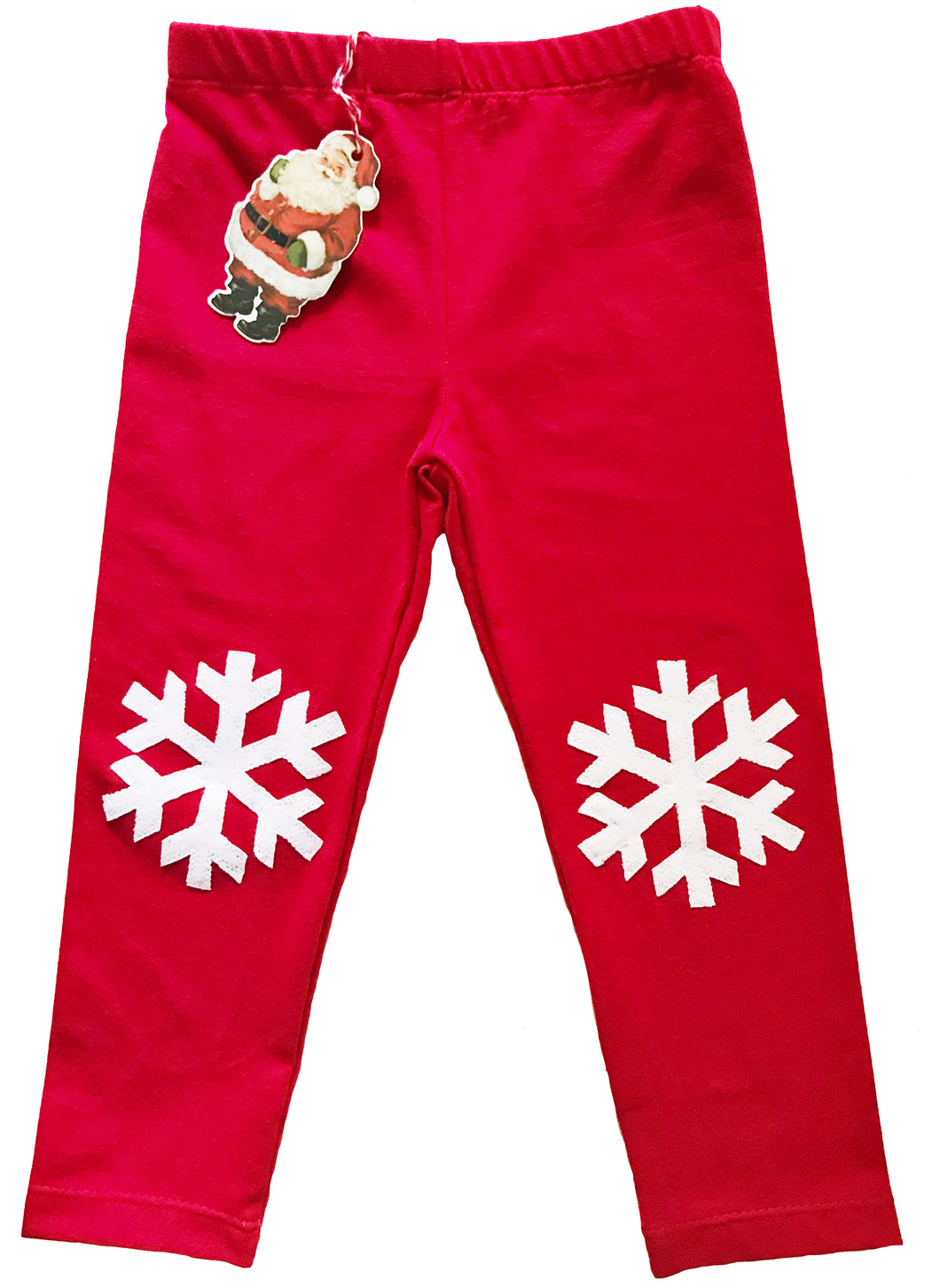 Snow Flake Knee Patch Leggings