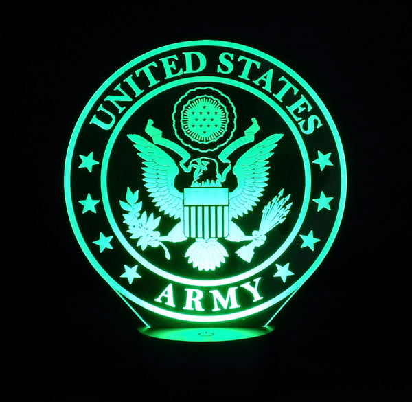 Army Logo Multicolored LED Desk, Table, Night Lamp