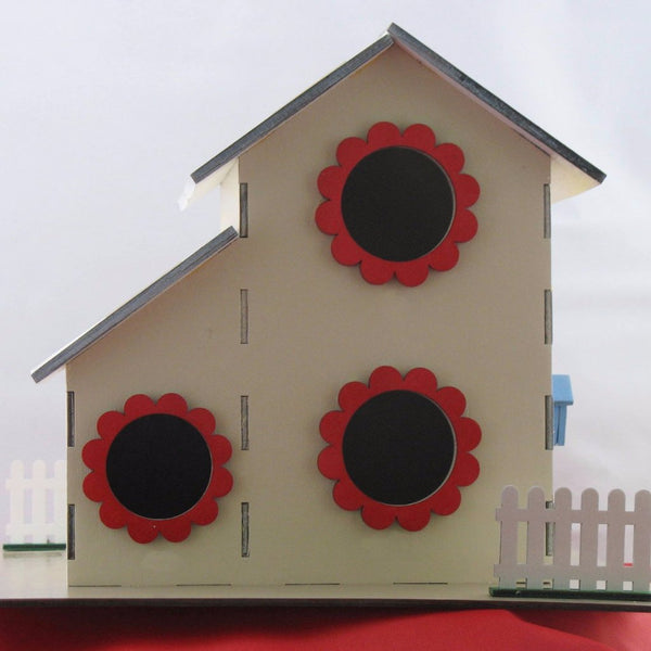 2-Story 3-Hole Multi-Family Birdhouse Kit