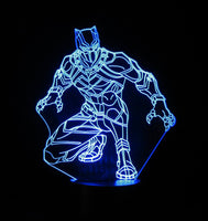 Black Panther 3-D Optical Illusion LED Desk, Table, Night Lamp