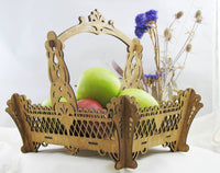 Basket with Handle Decorative Kit