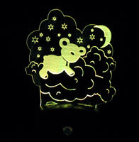 Nightlight Mini RGB LED Lamp Base with Artwork
