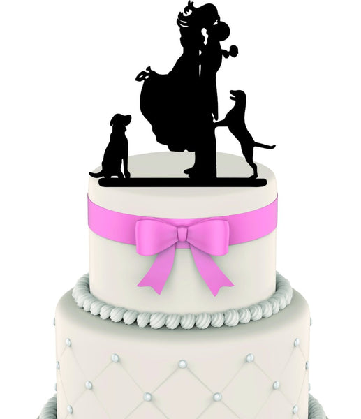Wedding Cake Silhouette Topper