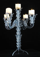 Candelabra LED Candle Holder Clear Acrylic