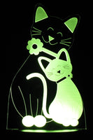 Cat & Kitten Image LED Desk, Table, Night Lamp