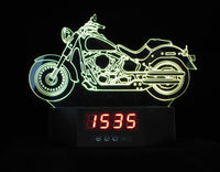 Harley-Davidson Large 3-D Optical Illusion Multicolored Clock Light Display