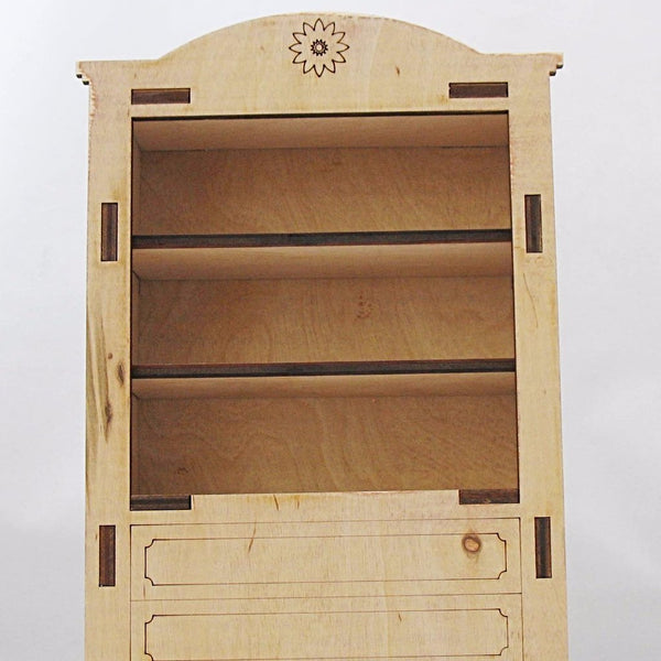 Dollhouse Furniture Unfinished Cupboard