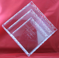 Cupcake Stand Square 3-Tier Clear Acrylic Square