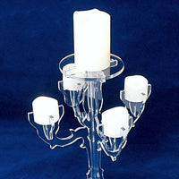 Candelabra LED Candle Holder Acrylic 1077S