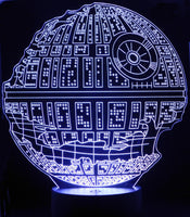 Death Star Destroyed 3-D Optical Illusion LED Desk, Table, Night Lamp
