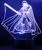 Darth Vader With Sword 3-D Optical Illusion LED Desk, Table, Night Lamp