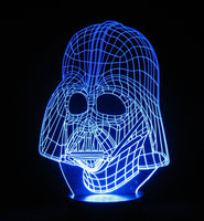 Darth Vader 3-D Optical Illusion LED Desk, Table, Night Lamp