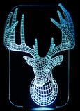 Deer 3-D Optical Illusion LED Desk, Table, Night Lamp