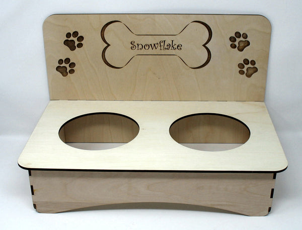 Dog Dish Holder - Personalized