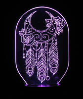 Dream Catcher 3-D Optical Illusion LED Desk, Table, Night Lamp