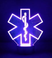 EMT Logo Multicolored LED Desk, Table, Night Lamp