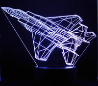 F-15c Fighter Jet 3-D Optical Illusion LED Desk, Table, Night Lamp