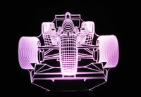 Formula 1 Front of Race Car 3-D Optical Illusion Multicolored Light