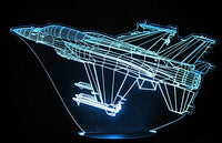F-16 Fighter Jet 3-D Optical Illusion LED Desk, Table, Night Lamp